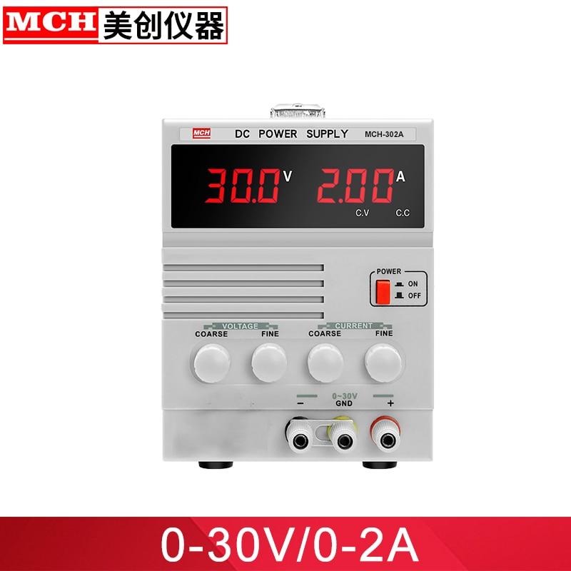 MCH Banc alimentation Réglable 30 V 2A DC alimentation MCH-302A Unique Canal Linéaire DC alimentation