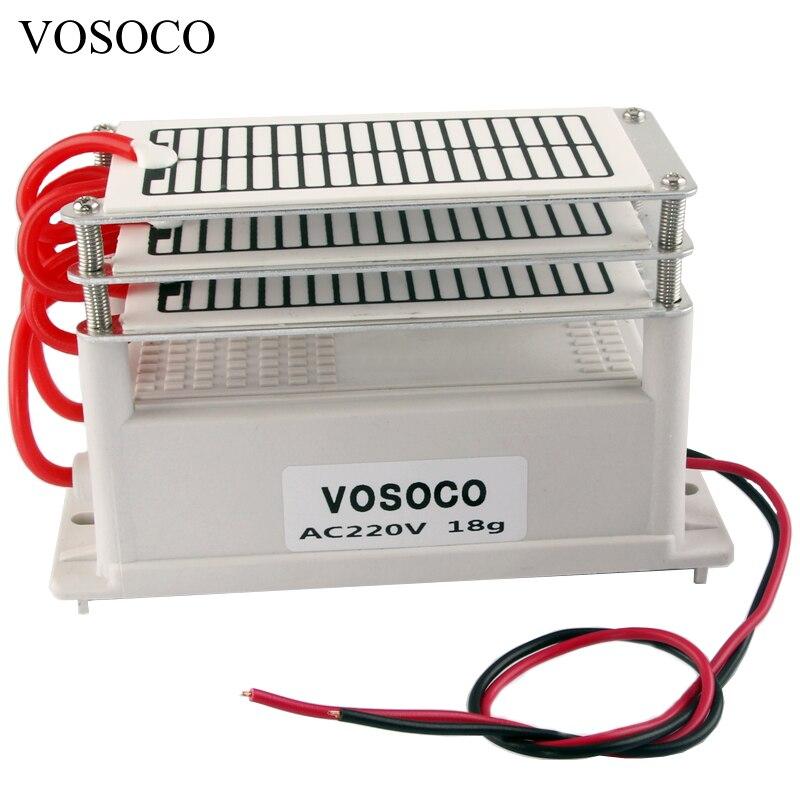 18 gr/std Tragbare Ozon Generator DIY Ozonisator Luft wasser Purifier Sterilisator behandlung Ozon neben formaldehyd 220 V 130 W