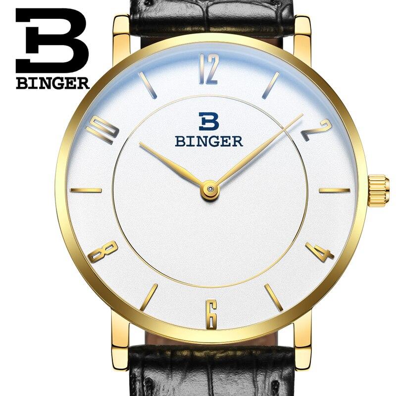 9da43a193a2 ✅Relógio dos homens de luxo da marca suíça BINGER B9013-3 ...