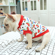 цена на 2019 Spring Summer Pet Dog Clothes Cute Watermelon Print T-shirt Clothing Vest Dog Shirt Chihuahua Costume For Small Dog Product