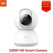 Original Xiao mi mi jia 1080P IP Smart Kamera Baby Monitor Stimme Nachtsicht Video Kamera Webcam 360 Grad kamera Für mi Homeapp(China)
