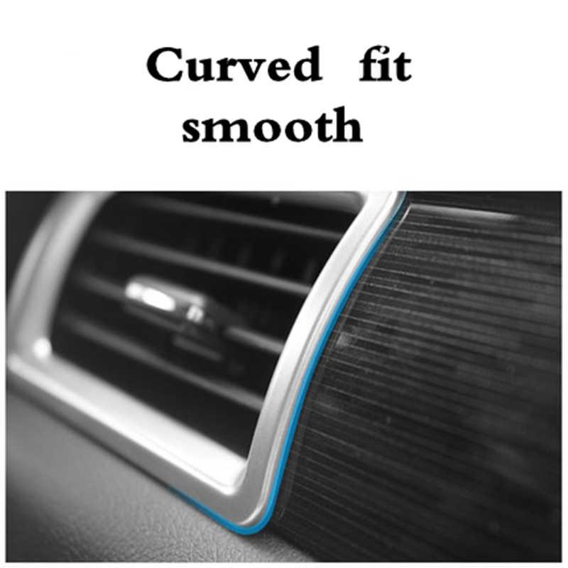 三菱アウトランダー 2013 2016 2017 2018 空気出口装飾フレームダッシュボード空調穴装飾ストリップステッカー