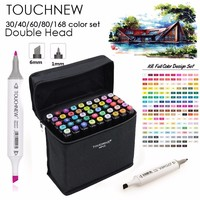 TOUCHNEW 30 40 60 80 Colors Art Markers Alcohol Based Markers Drawing Pen Set Manga Dual