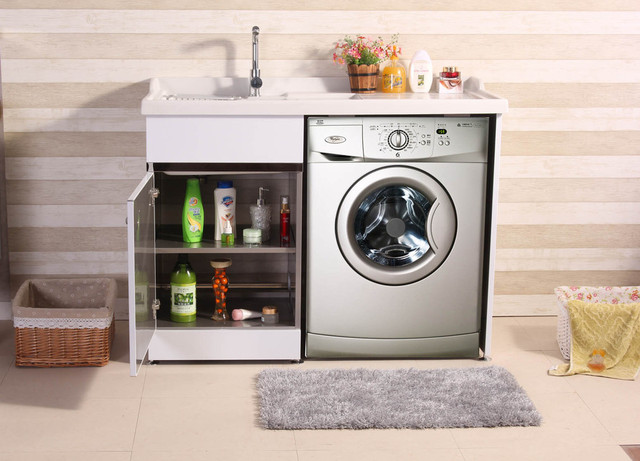 The New Stainless Steel Wash Cabinet Classic Wardrobe Cabinet Washing  Machine Balcony Cabinet B105 Special Wholesale