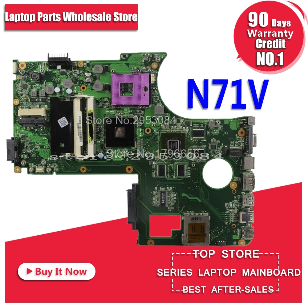 все цены на Laptop motherboard DDr2 Slots for ASUS N71V N71VG X77V fully tested with good appearance motherboard онлайн