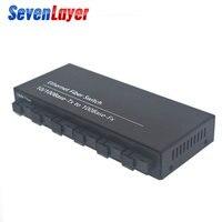 Fast Ethernet switch Converter 20KM Ethernet Fiber Optical Media Converter Single Mode 2 RJ45 and 6 SC fiber Port 10/100M