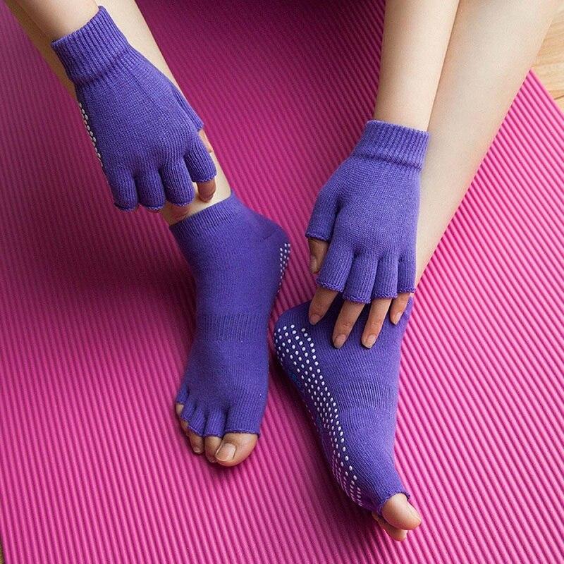 Hewolf Спортивные носки Йога Прихватки для мангала дышащие Нескользящие Йога носком Носк ...