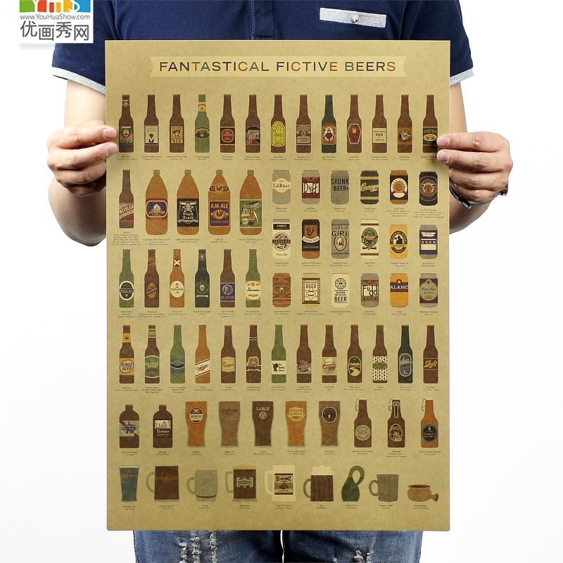 birra encyclopedia of grafici storia evolutiva bancone bar ornamento cucina retr vintage poster poster di carta