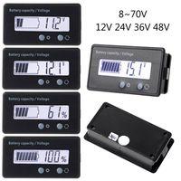 12 V/24 V/36 V/48 V LCD plomo ácido Indicador de capacidad de batería de litio voltímetro voltaje motocicleta eléctrica batería de scooter Testers T|Testers de baterías| |  -