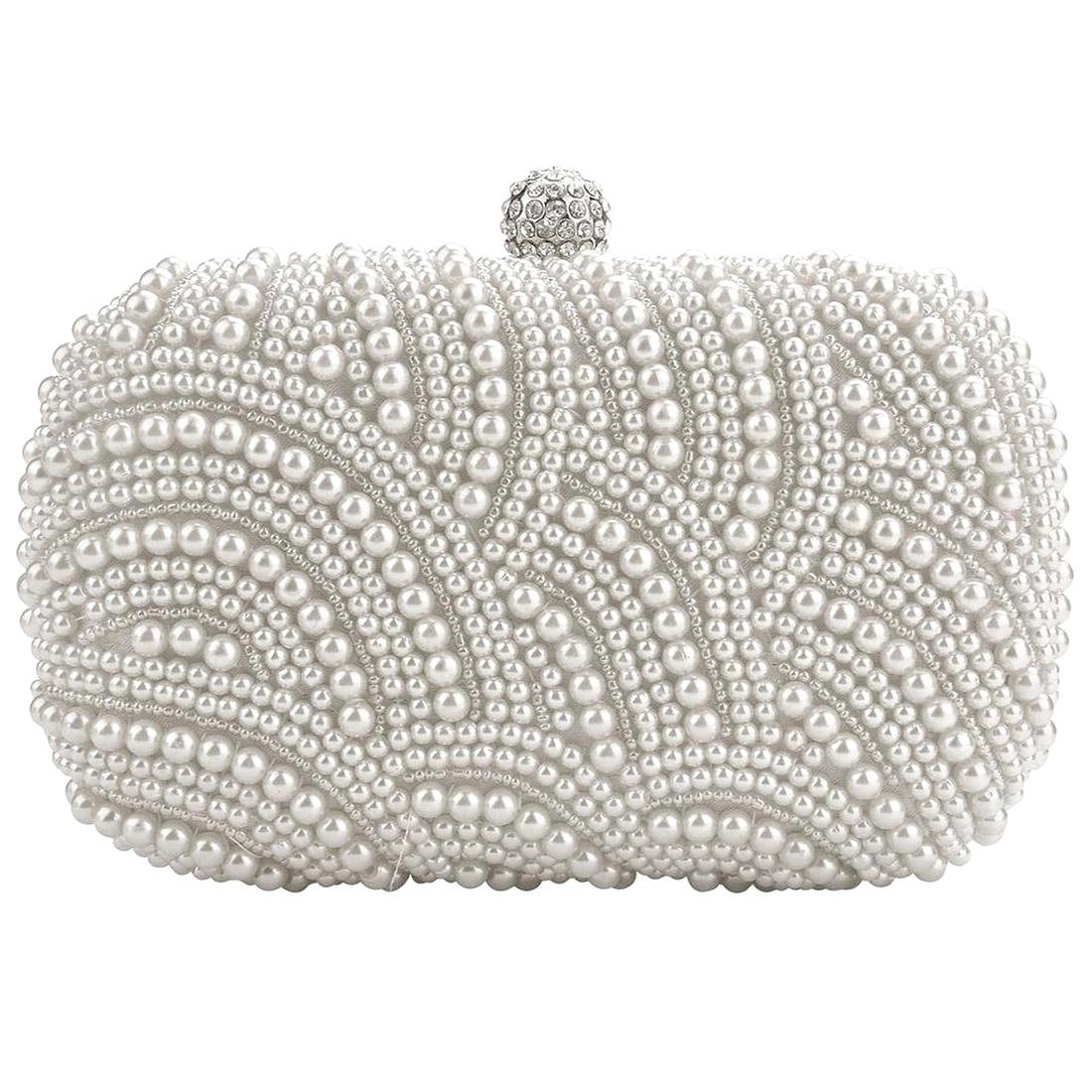 BEAU-Fashion Clutch Bag Beaded Party Bridal Handbag Wedding Evening Purse
