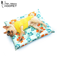 HOOPET Pet Dog Cat Summer Print Sleeping Breathable Mat Self Cooling Mat Cold Pad Ice Cushion For Big Small Dog