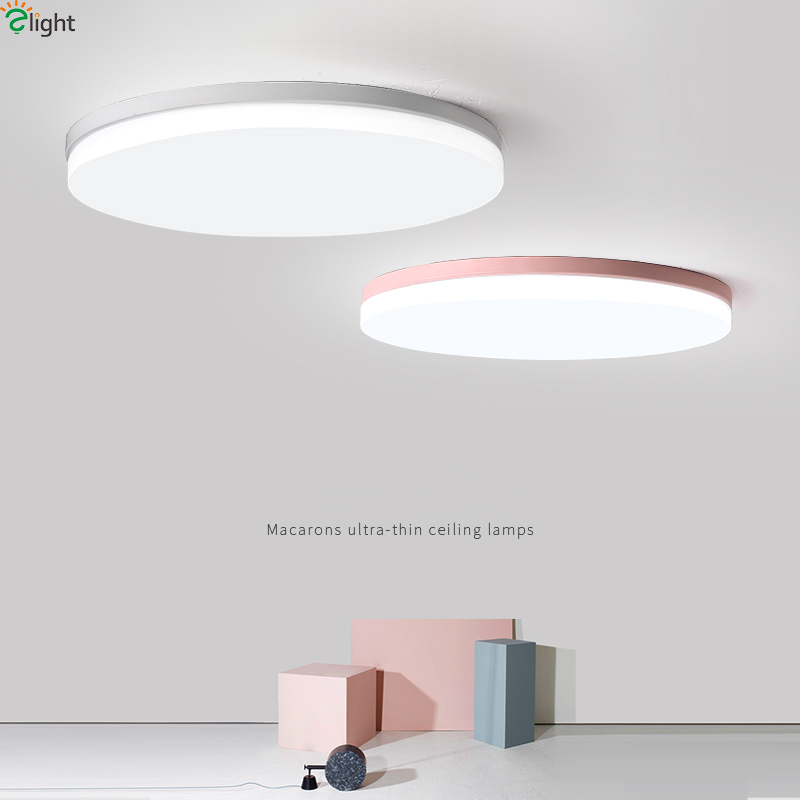 Remote Contro Ceiling Lights & Fans 2019 New Style Multicolor Ultra-thin Led Round Ceiling Light Modern Panel Lamp Lighting Fixture Living Room Bedroom Kitchen
