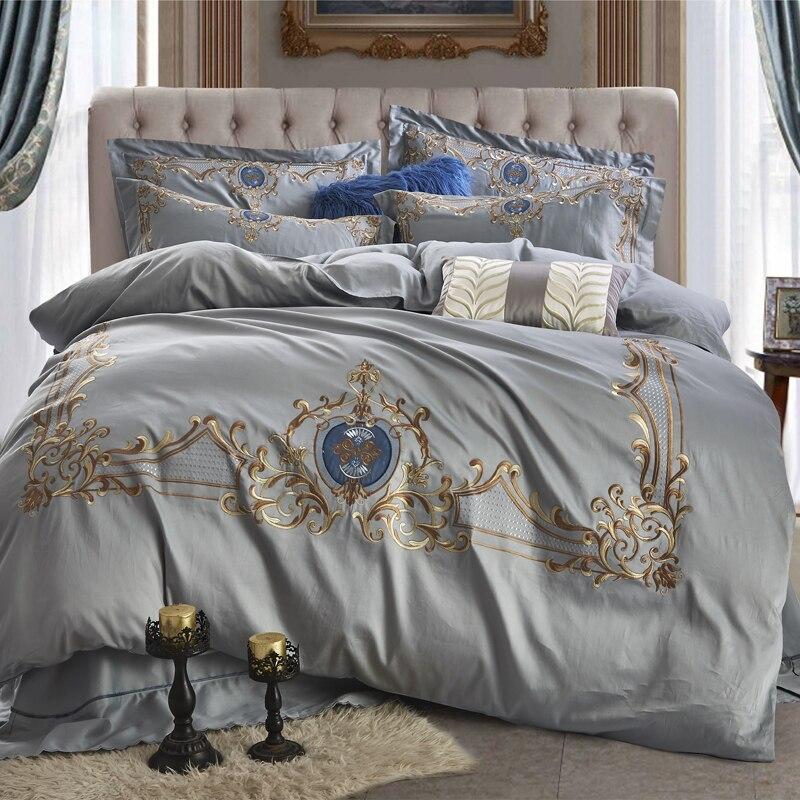 Роскошный комплект постельного белья из 4 предметов, простыня/пододеяльник/простынь, наволочки