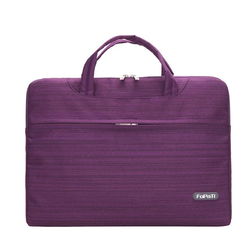 FOPATI 11 12 13 14 15 inch Waterproof Laptop Sleeve Shoulder Bag for Macbook Air Pro Notebook Case Handbag for Men and Women