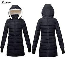 2018 women winter hooded warm coat plus size Warm Wool hat cotton padded jacket female long parka womens wadded jaqueta feminina стоимость