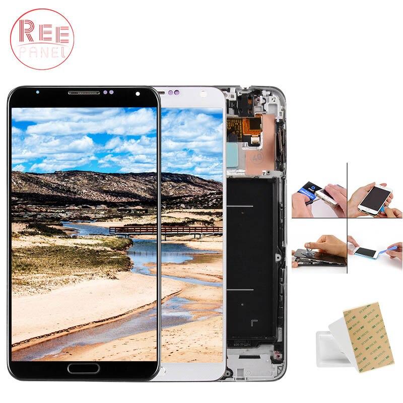 AAA + Qualité 5.7 ''LCD Pour SAMSUNG Galaxy Note 3 LCD Affichage Note 3 N9005 Écran Tactile avec Cadre n9002 N9006 N9000 N900A LCD