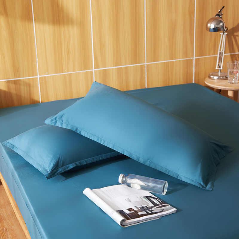 MECEROCK 1 زوج (2 pcs) القطن المخدة بلون غطاء ل وسادة 48*74 cm 10 الألوان لاختيار فقط غطاء لا الداخلية