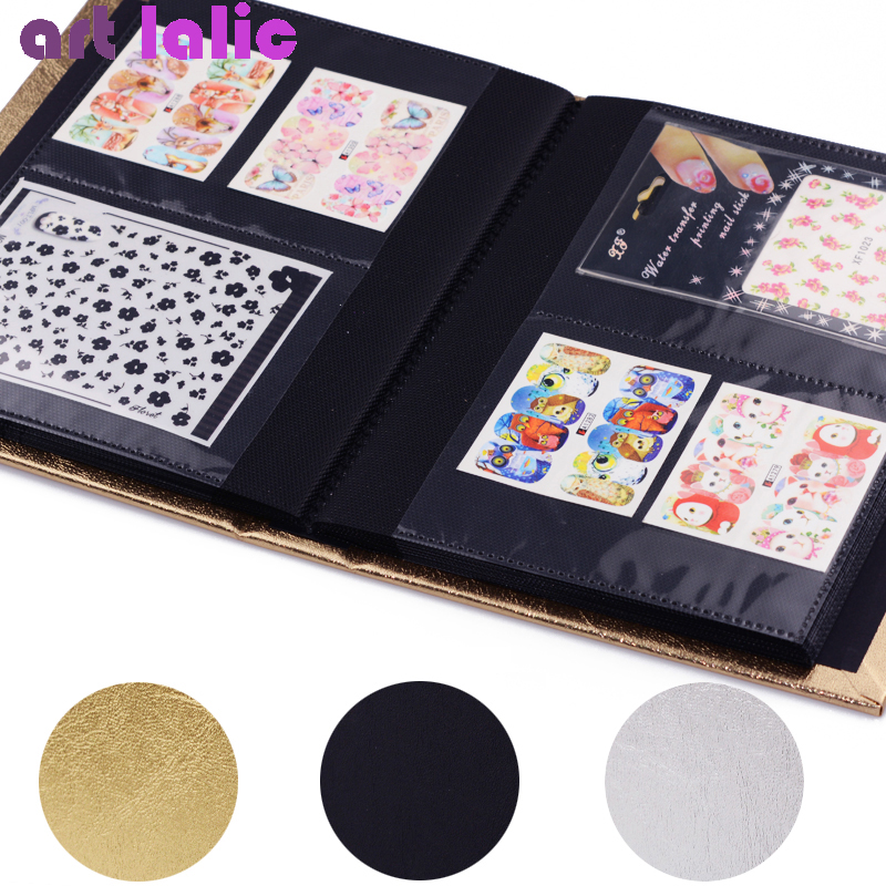Large 30 Pages 3D Nail Sticker Water Decal Collecting Albums Storage Holder Nail Art Display Showing Book Container Tool