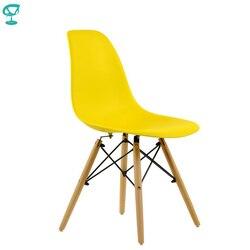 94988 Barneo N-12 пластиковый кухонный желтый стул на деревянном основании интерьерный стул мебель для кухни дизайнерский стул столовый стул кухо...