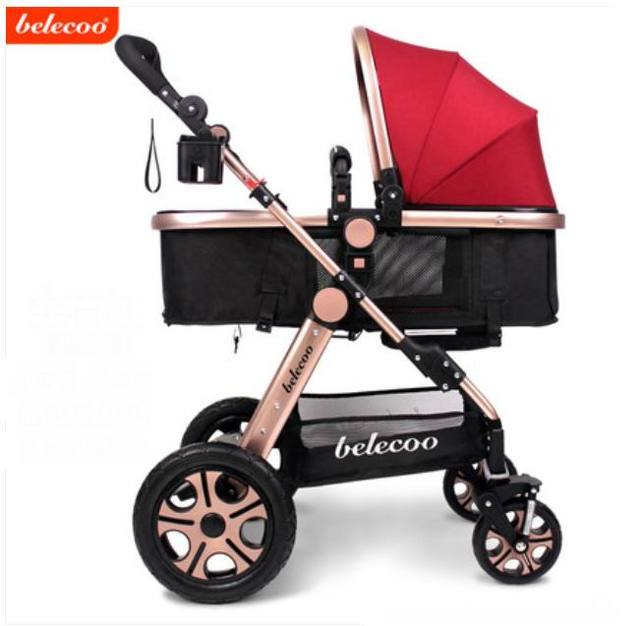 Hot sale good quality easy control comfortable large baby stroller baby bed sleeping car can sit and lie child travelling car