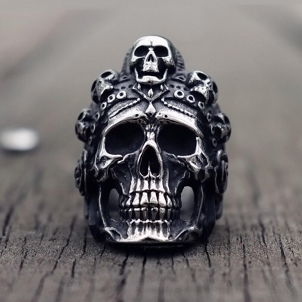 Kühlen Santa Muerte Tod Schädel Ring Einzigartige Herren Edelstahl Ringe Punk Rock Biker Schmuck Geschenk Für Ihn Durchblutung GläTten Und Schmerzen Stoppen Schmuck & Zubehör