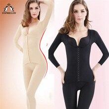 Topالبطيخ طويل محدد شكل الجسم المرأة المجلدات و مشدات التخسيس ملابس داخلية كامل طول حجم كبير ارتداءها للنساء S 3XL