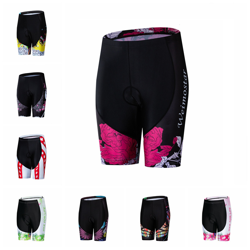Women/'s Outdoor Sportswear Cherry Cycling Bike Pants Bicycle 3D Padded Short
