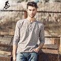 Pioneer Camp. Бесплатная доставка 2017 новая мода мужская футболка с длинным рукавом бренд clothing твердое высокое качество футболки повседневная fit 622003