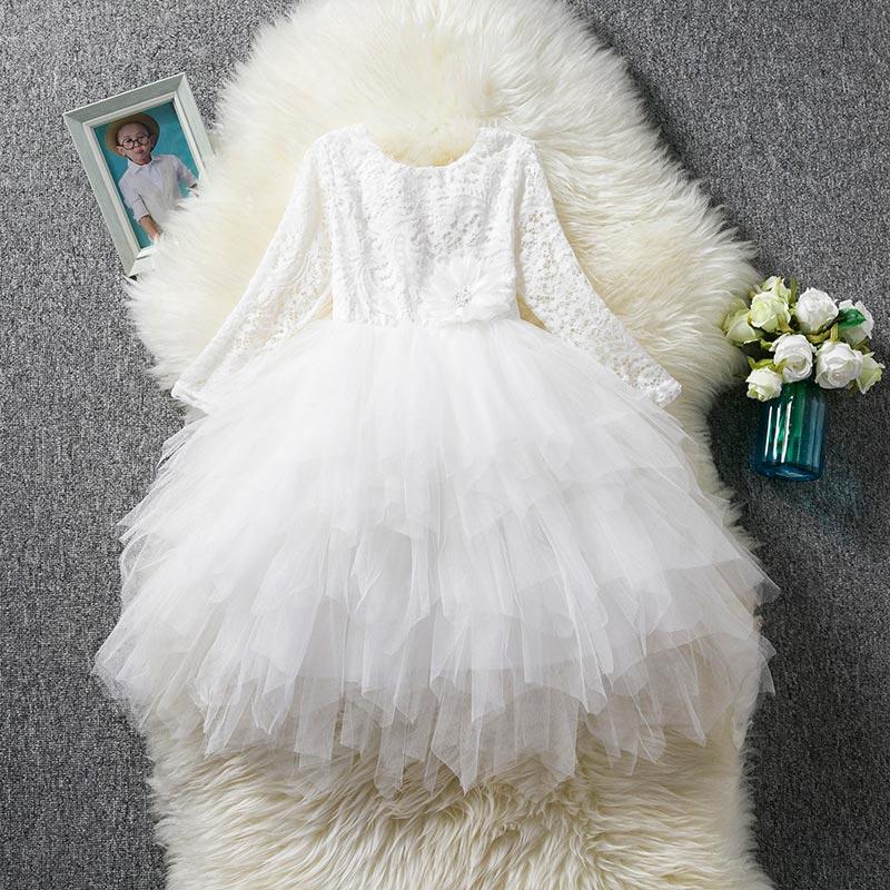 HTB180dsWbvpK1RjSZPiq6zmwXXar Children Girls Embroidery Clothing Wedding Evening Flower Girl Dress Princess Party Pageant Lace tulle Gown Kid Girls Clothes
