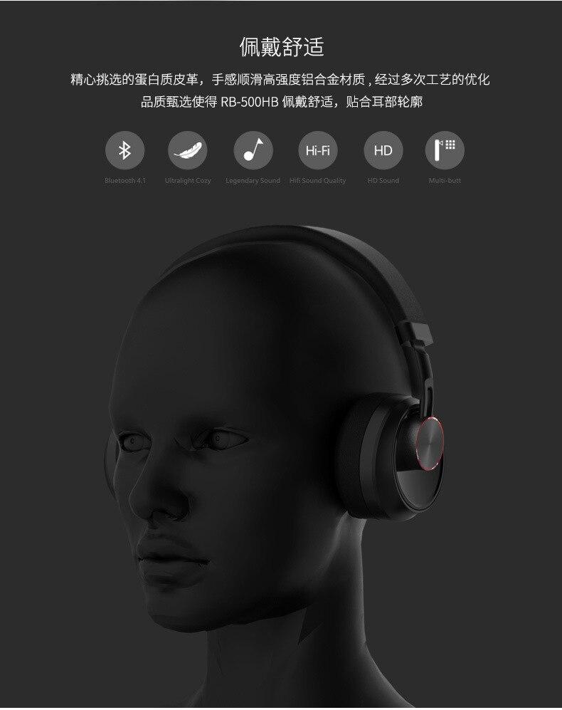 Remax RB-500HB Wireless Bluetooth Headphone 7
