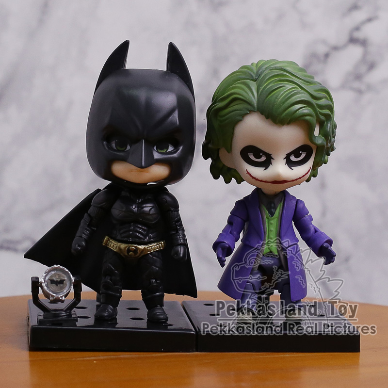 Nendoroid Batman The Dark Night The Joker Villains Edition 566 / Batman 469 PVC Action Figure Toy Doll 4 10cm