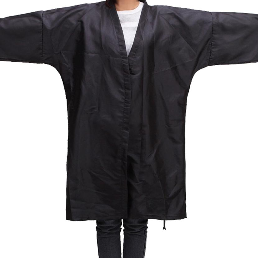 Black Hair cutting cape Waterproof Kimono Cloth Salon Barber Gown Cape Hairdresser Dropshipping 2M0531