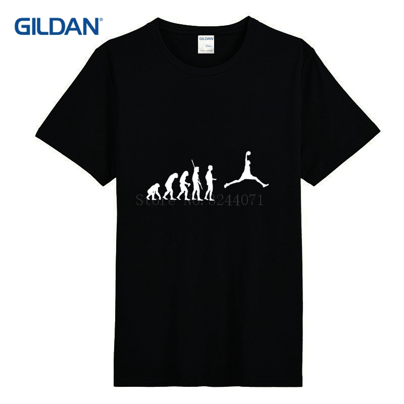 Knitted Men's T Shirt Brand Gildan Evolution Basket Fashion Men's T-Shirt Designs Spring Autumn Tshirt O Neck