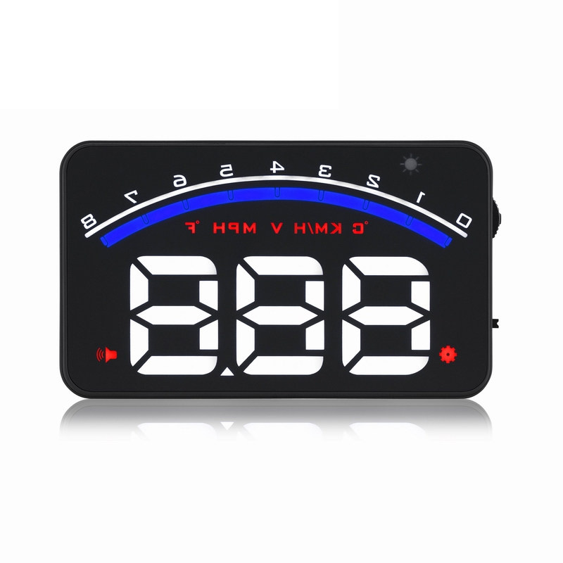 HD Hud car speed projector head up display windshield projector M6 universal car-styling obd2 GPS digital car speedometer alarm car speed projector on windshield auto hud head up display overspeed alarm safe driving obd2 digital car speedometer accessories