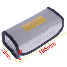 185x75x60mm Square LiPo Safe Battery Charging Box Bag Sack Pouch Fire Resistant
