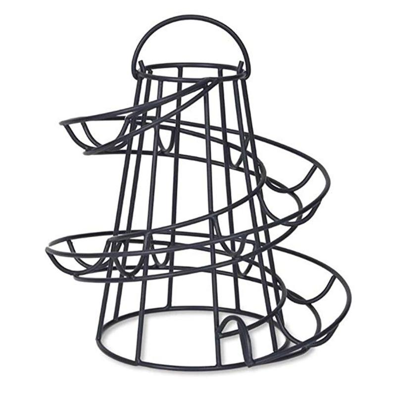 Creative Egg Deluxe Modern Spiraling Dispenser Rack Basket Multi-functional Rack Storage Egg Rack