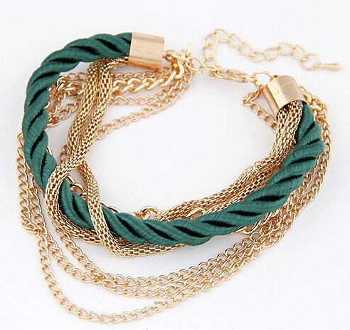 MINHIN Fashionable Rope Chain Decoration Bracelet For Girl Six Color Hot Selling Bracelet For Summer Party Special Accessory 2