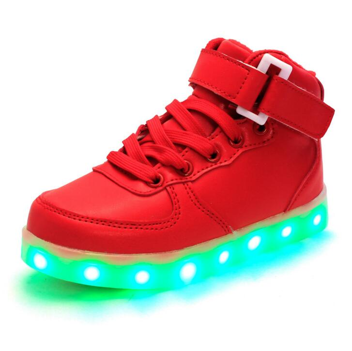 STRONGSHEN-Summer-Children-Breathable-Sneakers-With-Light-Sport-Led-USB-Luminous-Lighted-Shoes-for-Kids-Boys-Casual-Girls-Flats-2