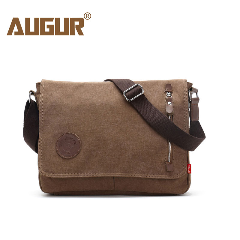 AUGUR High Quality Men Canvas Messenger Bag Vintage Travel Bolsa Masculina Fashion Men's Crossbody Bag Casual Shoulder Bags Male цена 2017
