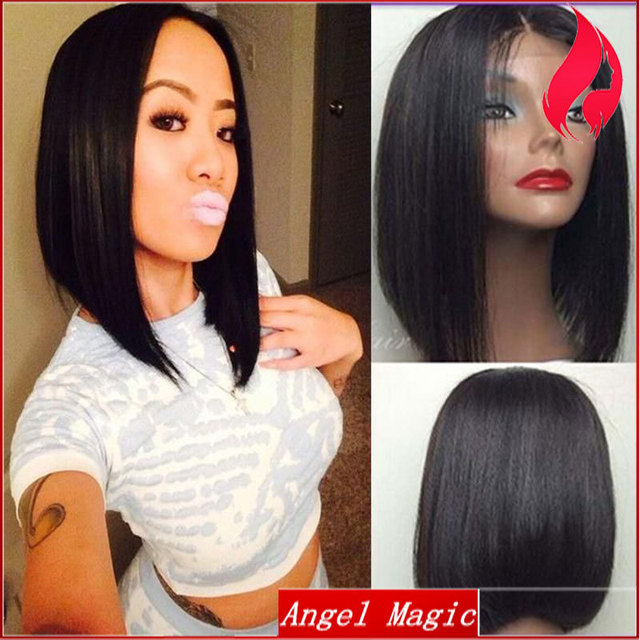 Virgin Brazilian Short Middle Part Bob Wigs For Black Women Glueless Short  Bob Lace Front Wigs Human Hair For Black Women Sale b1f0c6a59