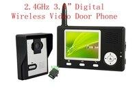 300 м беспроводной дверные звонки 2,4 ГГц цифровой видео телефон двери с монитор видеонаблюдения TFT 3,5 ночное видение глазок просмотра