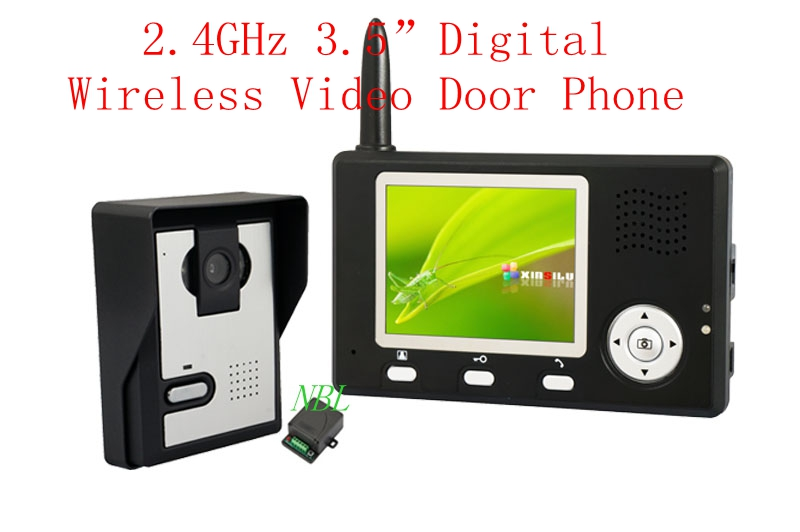300 M Campainhas Sem Fio 2.4 GHz Digital Wireless Telefone Video Da Porta Com 3.5 TFT Monitor de Olho Mágico de Visão Noturna Interior visualizador