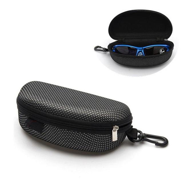 Car-styling Car Glasses Case Portable Zipper Eye Glasses Sunglasses Clam Shell Hard Case Protector Box