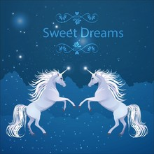 Laeacco Sweet Dream Unicorn Starry Sky Scene Baby Photography Backgrounds Customized Photographic Backdrops For Photo Studio