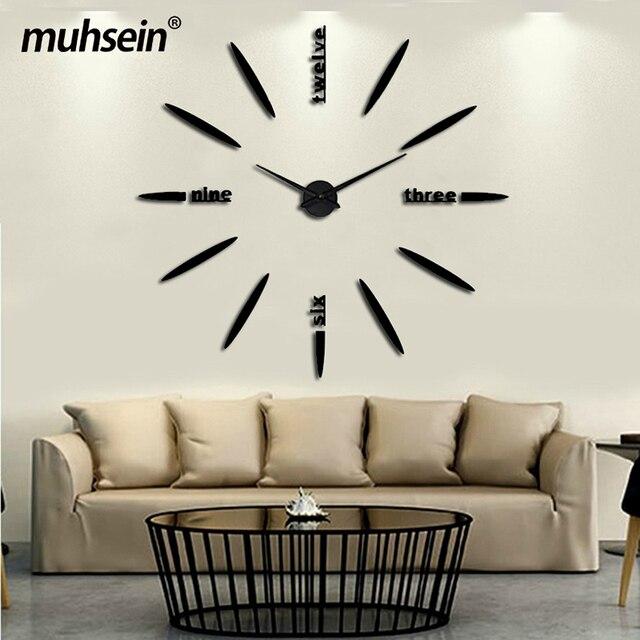 2019 Neue Wanduhren Mode Wohnzimmer Uhr Acryl Spiegel Aufkleber