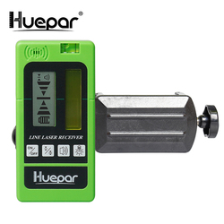Detector de nivel láser, receptor con línea de pulsación para exteriores, nivelación electrónica para interiores, líneas horizontales verticales para Rayo verde roja