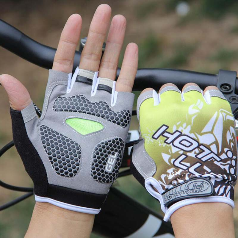 New Anti Slip Bicycle Gloves Short Half Finger Stylish Cycling Gloves Breathable Outdoor Sports Men Women Bike Gloves|Cycling Gloves| |  - title=