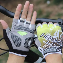 New Anti Slip Bicycle Gloves Short Half Finger Stylish Cycling Gloves Breathable Outdoor Sports Men Women Bike Gloves outdoor cycling anti slip half finger gloves black yellow white pair size m