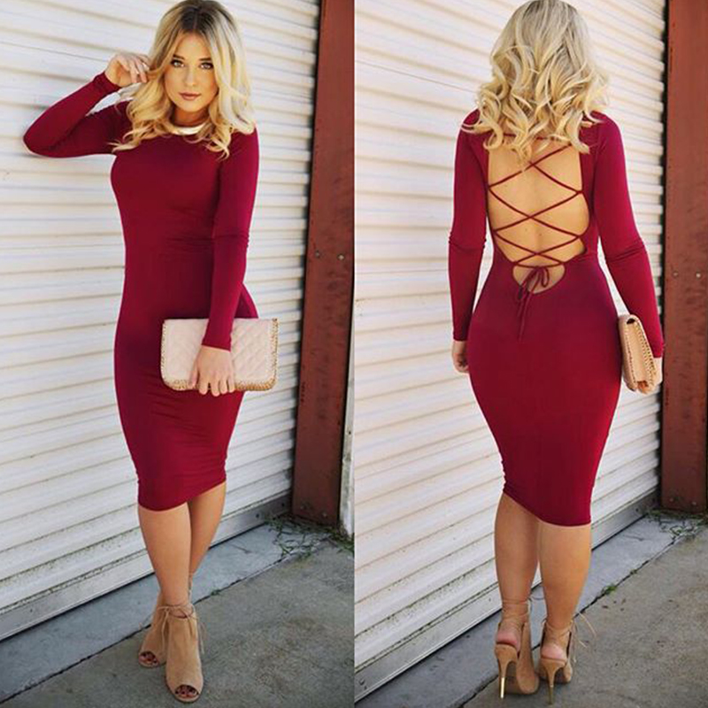 Collection Long Sleeve Tight Dress Pictures - Reikian