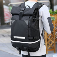 Big Backpack Glowing Roll Bag Backpack Trend Large Capacity Travel Backpack Tide Brand Men's Student Bag